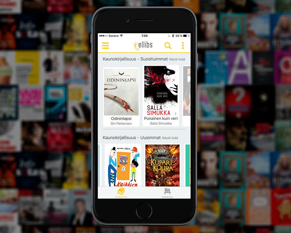 E-kirjasto sovellus, lainaamo ja kirjojen lukuohjelma iphone, Android